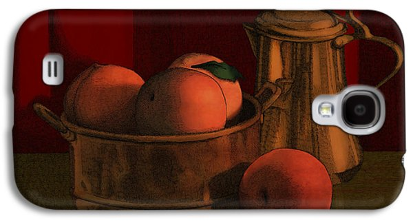 Copper Galaxy S4 Cases - Still Life with Peaches Galaxy S4 Case by Meg Shearer