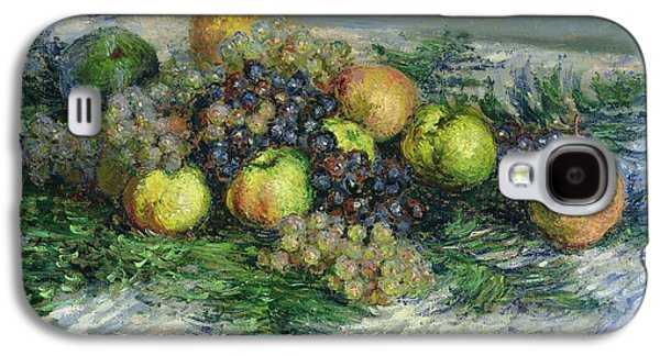 Pear Art Galaxy S4 Cases - Still Life with Pears and Grapes Galaxy S4 Case by Claude Monet