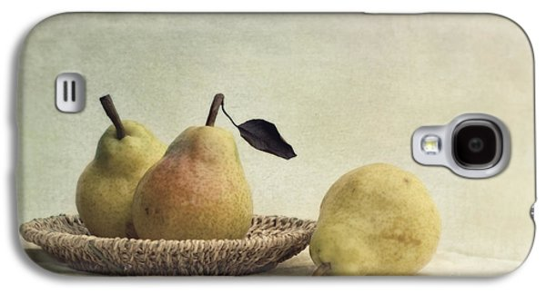 Tabletop Galaxy S4 Cases - Still Life With Pears Galaxy S4 Case by Priska Wettstein