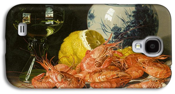 Pare Galaxy S4 Cases - Still Life With Prawns And Lemon Galaxy S4 Case by Edward Ladell