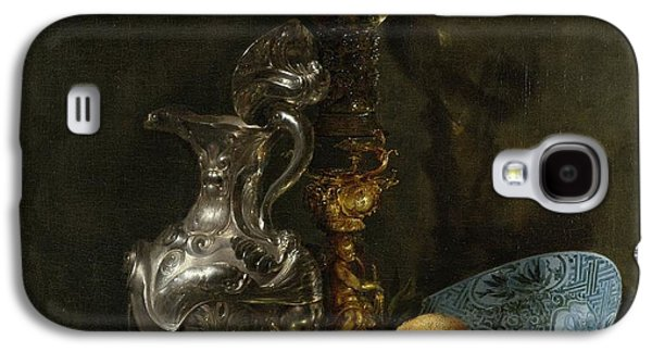 Old Pitcher Paintings Galaxy S4 Cases - Still life with silver pitcher Galaxy S4 Case by Willem Kalf