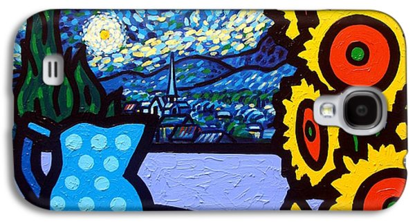 Wine Canvas Paintings Galaxy S4 Cases - Still Life With Starry Night Galaxy S4 Case by John  Nolan