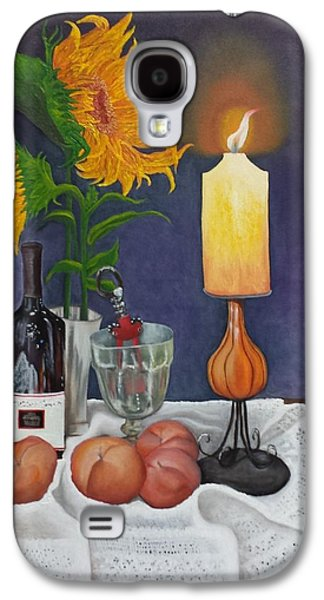 Wine Holder Galaxy S4 Cases - Still Life with Sunflowers Galaxy S4 Case by Sunny  Kim