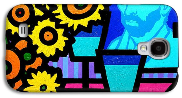 Wine Canvas Paintings Galaxy S4 Cases - Still Life With Vincent Galaxy S4 Case by John  Nolan