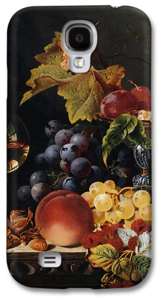 Pare Galaxy S4 Cases - Still Life With Wine Glass And Silver Tazz Galaxy S4 Case by Edward Ladell