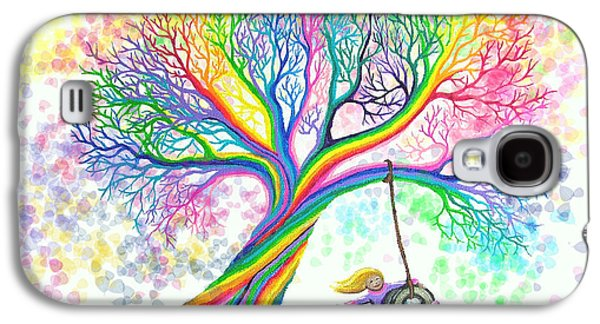 Kid Galaxy S4 Cases - Still MOre Rainbow Tree Dreams Galaxy S4 Case by Nick Gustafson