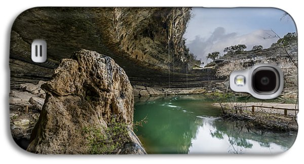 Sink Hole Galaxy S4 Cases - Still Waters at Hamilton Pool Galaxy S4 Case by David Morefield