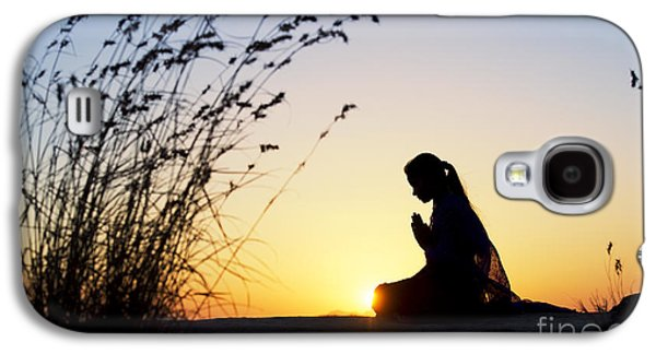Praying Hands Galaxy S4 Cases - Stillness of Prayer Galaxy S4 Case by Tim Gainey
