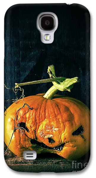 Gardening Photography Galaxy S4 Cases - Stingy Jack - Scary Halloween Pumpkin Galaxy S4 Case by Edward Fielding