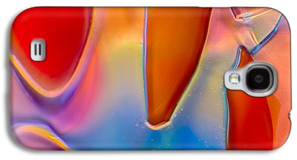 Nature Abstract Glass Art Galaxy S4 Cases - Stitch Galaxy S4 Case by Omaste Witkowski