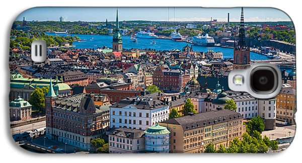 Architectural Galaxy S4 Cases - Stockholm from Above Galaxy S4 Case by Inge Johnsson