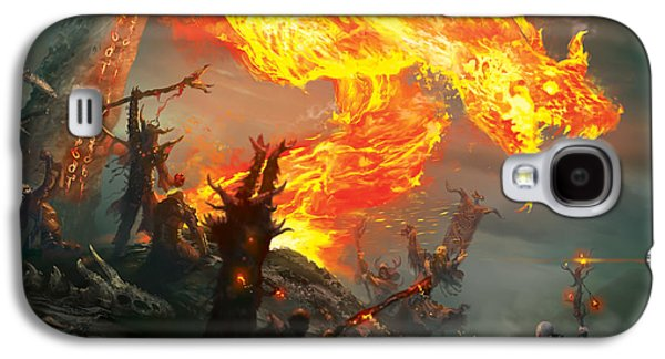 Gathering Galaxy S4 Cases - Stoke The Flames Galaxy S4 Case by Ryan Barger