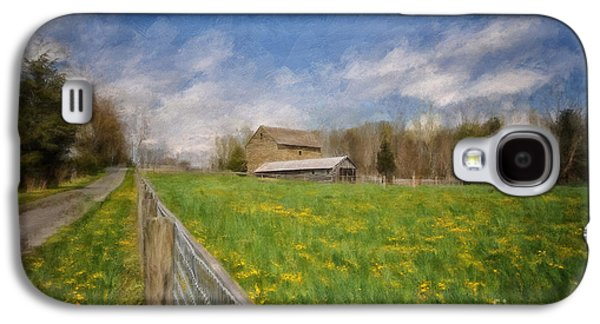 Old Barns Galaxy S4 Cases - Stone Barn On A Spring Morning Galaxy S4 Case by Lois Bryan