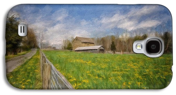 Buy Galaxy S4 Cases - Stone Barn On A Spring Morning Galaxy S4 Case by Lois Bryan