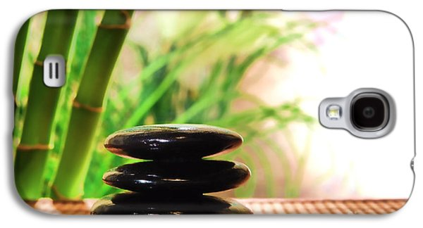 Soft Photographs Galaxy S4 Cases - Stone Cairn Galaxy S4 Case by Olivier Le Queinec