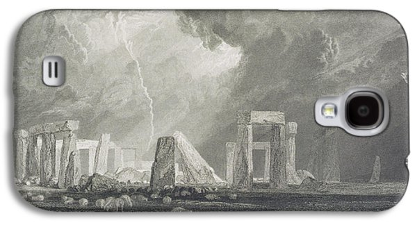 Rocks Drawings Galaxy S4 Cases - Stone Henge Galaxy S4 Case by Joseph Mallord William Turner