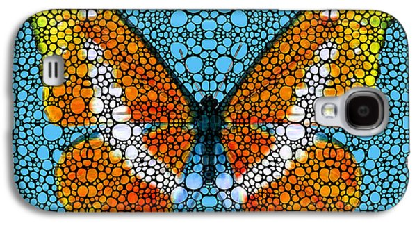 Stone Rock'd Butterfly By Sharon Cummings Galaxy S4 Case by Sharon Cummings