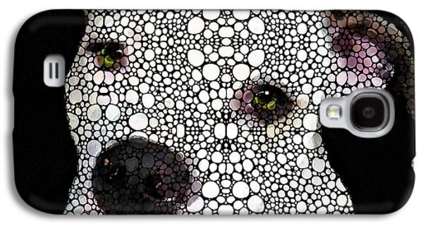 Print Mixed Media Galaxy S4 Cases - Stone Rockd Dog by Sharon Cummings Galaxy S4 Case by Sharon Cummings