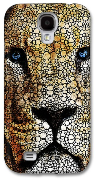 Animals Mixed Media Galaxy S4 Cases - Stone Rockd Lion 2 - Sharon Cummings Galaxy S4 Case by Sharon Cummings