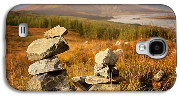 Scotland Galaxy S4 Cases - Stone stacks in the Highlands Galaxy S4 Case by Jane Rix