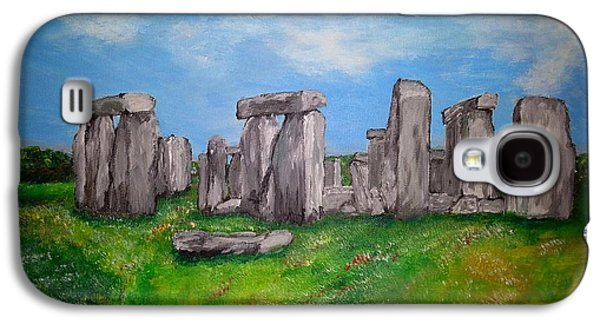 Ancient Galaxy S4 Cases - Stonehenge Galaxy S4 Case by Irving Starr
