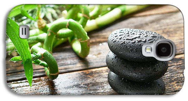 Meditative Photographs Galaxy S4 Cases - Stones and Bamboo Galaxy S4 Case by Olivier Le Queinec