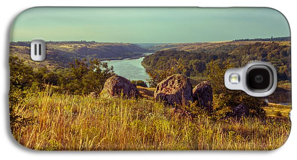 Landscapes Photographs Galaxy S4 Cases - Stones over the river Galaxy S4 Case by Dmytro Korol