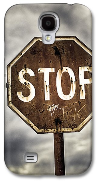 Stop Sign Galaxy S4 Cases - Stop Galaxy S4 Case by Caitlyn  Grasso