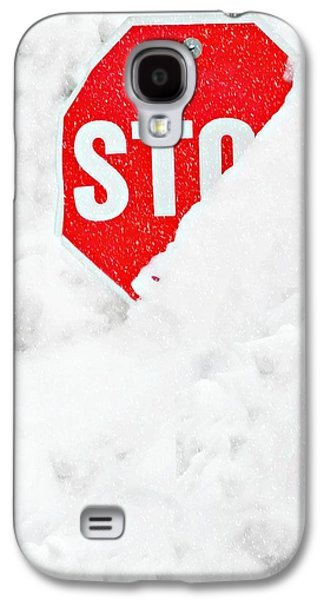 Stop Sign Galaxy S4 Cases - Stop Galaxy S4 Case by Diana Angstadt