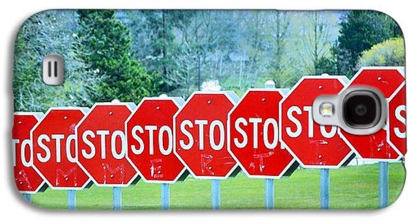 Stop Sign Galaxy S4 Cases - Stop Galaxy S4 Case by Fraida Gutovich