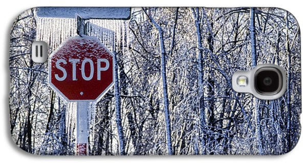 Stop Sign Galaxy S4 Cases - Stop Ice Galaxy S4 Case by Kelley King