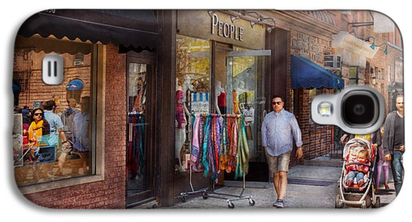 Family Walks Galaxy S4 Cases - Store Front - Hoboken NJ - People Galaxy S4 Case by Mike Savad