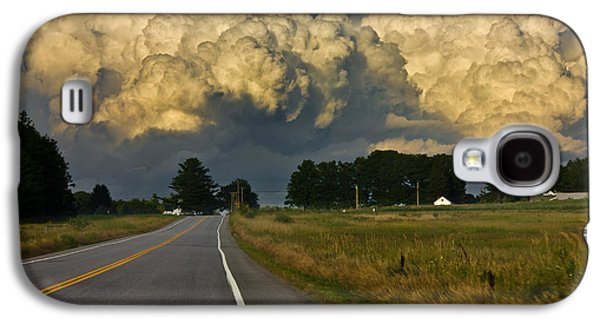 Rural Maine Roads Galaxy S4 Cases - Storm Ahead Galaxy S4 Case by Benjamin Williamson