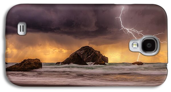 Landscape Acrylic Prints Galaxy S4 Cases - Storm At Face Rock Galaxy S4 Case by Darren  White