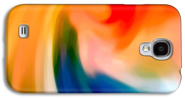 Abstract Movement Galaxy S4 Cases - Storm at Sea Square 1 Galaxy S4 Case by Amy Vangsgard