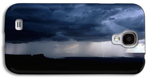 Summer Storm Galaxy S4 Cases - Storm, Canyonlands National Park, Utah Galaxy S4 Case by Panoramic Images