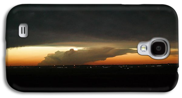 Summer Storm Galaxy S4 Cases - Storm Cloud over Williston Galaxy S4 Case by Jeff  Swan