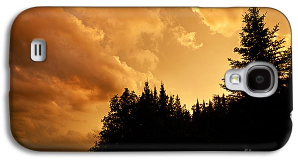 Bwcaw Galaxy S4 Cases - Storm Clouds at Sunset Galaxy S4 Case by Larry Ricker