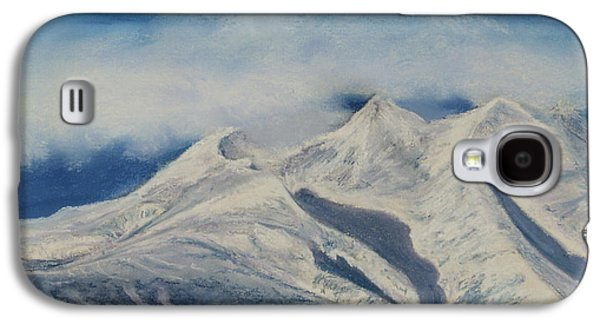 Fog Mist Pastels Galaxy S4 Cases - Storm Clouds Over Winter Mountain Blues Galaxy S4 Case by Stanza Widen