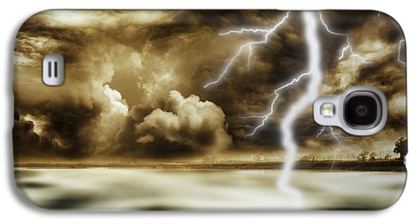 Landscape Photographs Galaxy S4 Cases - Storm Galaxy S4 Case by Les Cunliffe