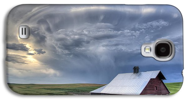 Contour Farming Galaxy S4 Cases - Storm on Jenkins Rd Galaxy S4 Case by Latah Trail Foundation