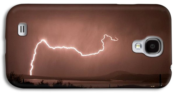 Surreal Landscape Galaxy S4 Cases - Storm over Roosevelt Lake in Arizona Galaxy S4 Case by Mountain Dreams
