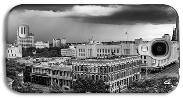 The Americas Photographs Galaxy S4 Cases - Storm over San Antonio Texas Skyline Galaxy S4 Case by Silvio Ligutti