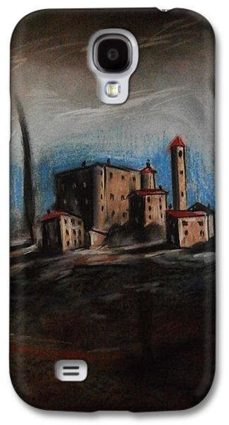 Storm Pastels Galaxy S4 Cases - Storm Over the Castel Galaxy S4 Case by Donald Xhelo