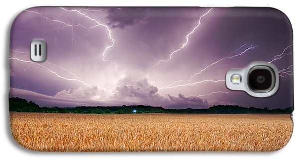 Recently Sold -  - Landscapes Photographs Galaxy S4 Cases - Storm over wheat Galaxy S4 Case by Alexey Stiop