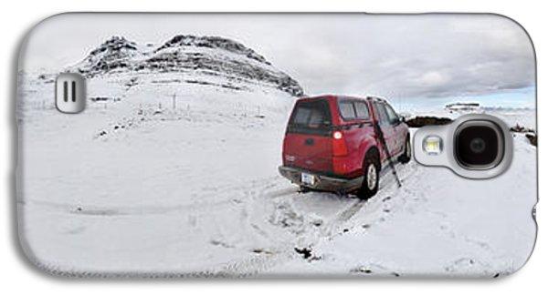 Winter Storm Photographs Galaxy S4 Cases - Storm Rider Galaxy S4 Case by Evelina Kremsdorf