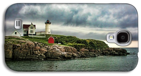 Cape Neddick Lighthouse Galaxy S4 Cases - Storm Rolling In Galaxy S4 Case by Heather Applegate