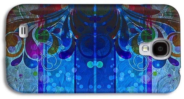 Storm Prints Mixed Media Galaxy S4 Cases - Storm Through The Window - Abstract  Galaxy S4 Case by Georgiana Romanovna