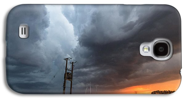 Electrical Photographs Galaxy S4 Cases - Stormfront at Sunset Galaxy S4 Case by Ian Hufton