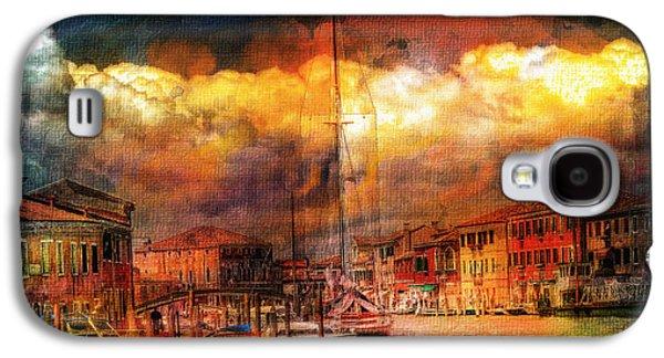 Storm Mixed Media Galaxy S4 Cases - Storms In Venice Galaxy S4 Case by Georgiana Romanovna
